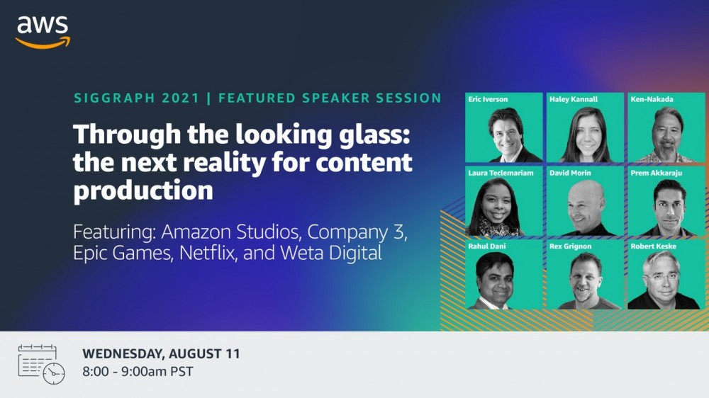AWS at SIGGRAPH 2021 featured speakers