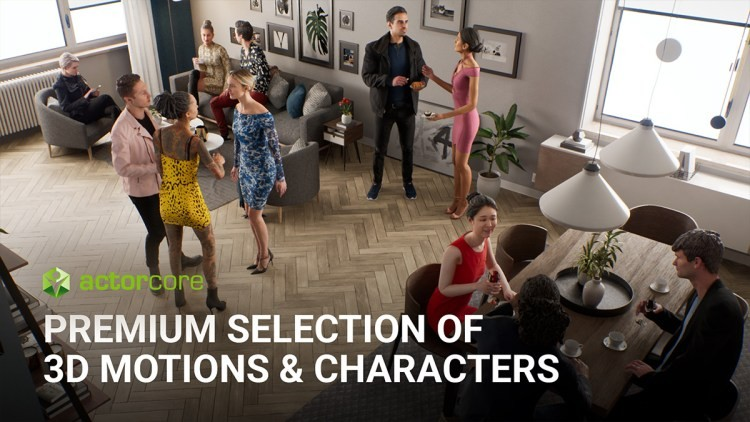 ActorCore: Premium selection of 3D motions & characters
