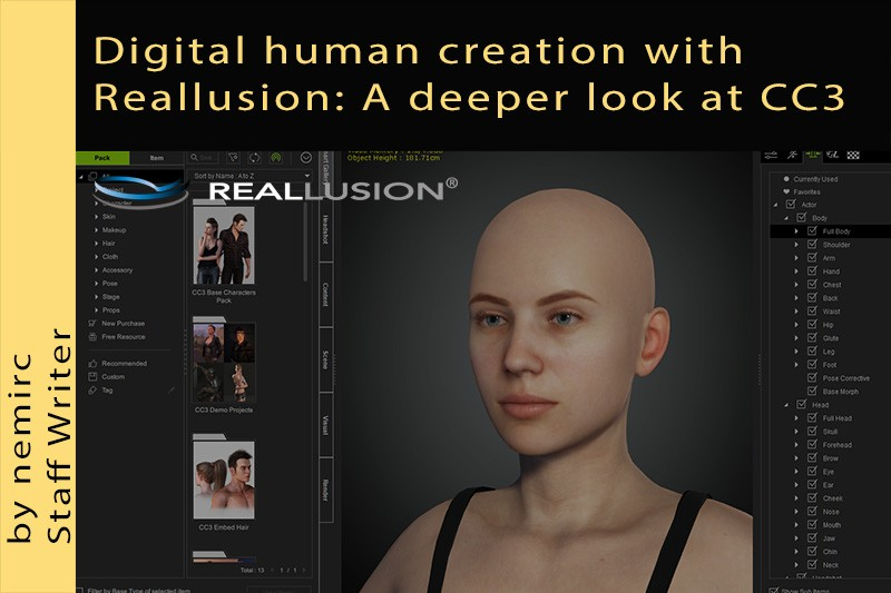 Digital human creation with Reallusion: A deeper look at CC3