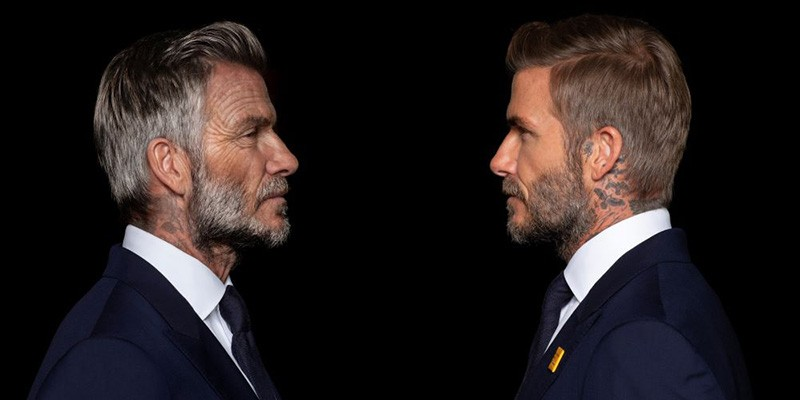 David Beckham old and young
