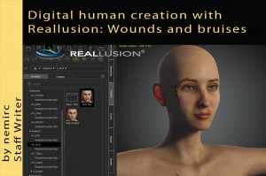 Digital human creation with Reallusion: Wounds and bruises