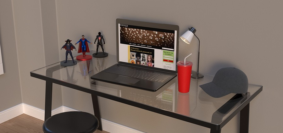 Desk Render - Ray Tracing On